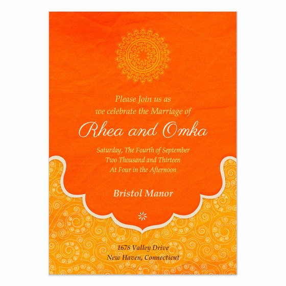 Indian Wedding Invitation Templates Luxury Indian Wedding Blessings Invitations & Cards On Pingg