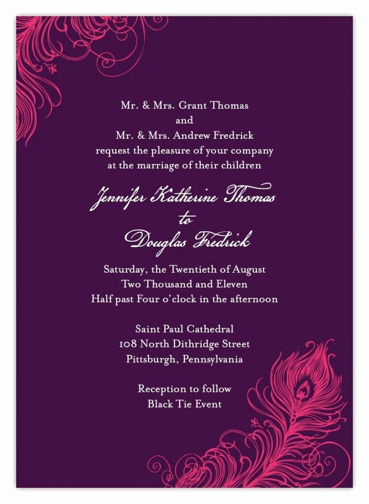 Indian Wedding Invitation Templates Luxury Indian Wedding Invitation Wording Template