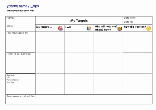 Individual Learning Plan Template Awesome Iep Template by thewritingcub