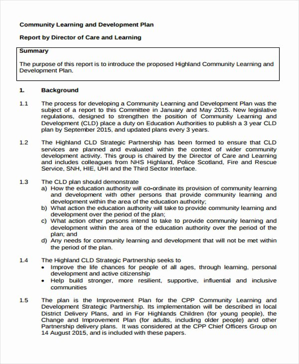 Individual Learning Plan Template Luxury Learning Plan Template 10 Free Samples Examples format