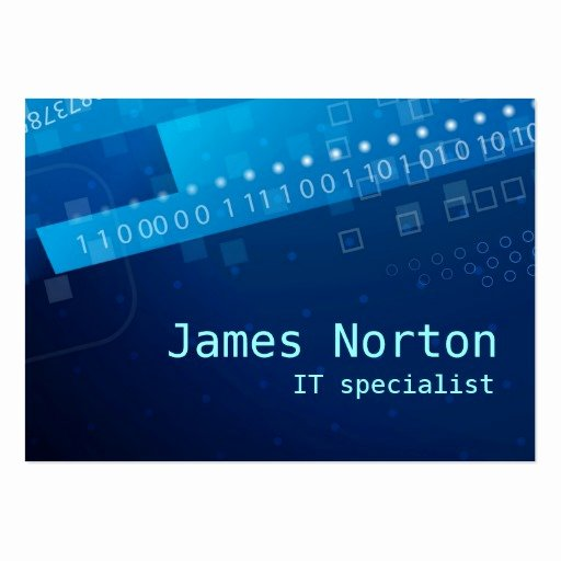 Information Technology Business Cards Inspirational Information Technology It Blue Business Card