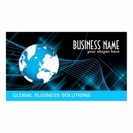Information Technology Business Cards Lovely Global Information Technology Double Sided Standard