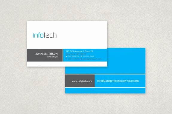Information Technology Business Cards Luxury Information Technology Business Card Template A Clean