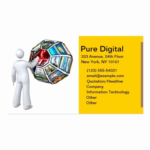 Information Technology Business Cards Unique It Information Technology Pure Digital Business Card