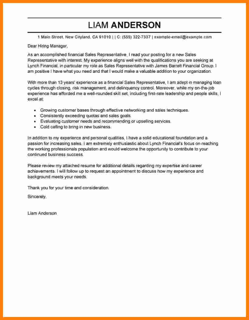 Inside Sales Cover Letter Unique 9 Cv Motivation Letter Example