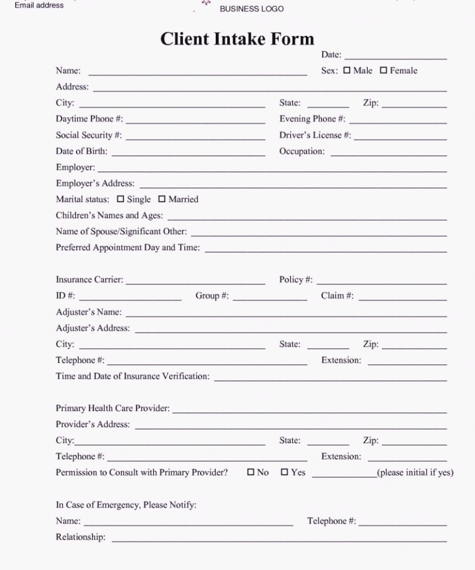 Intake form Template Word Elegant How to Leave Client Intake