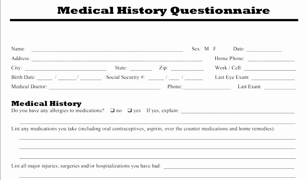 Intake form Template Word Inspirational Patient Intake form Template Word