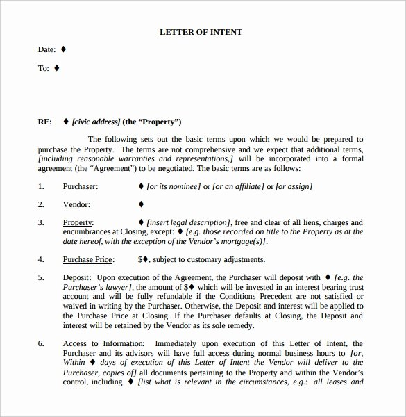 Intent to Sell form Awesome 11 Real Estate Letter Of Intent Templates Pdf Doc