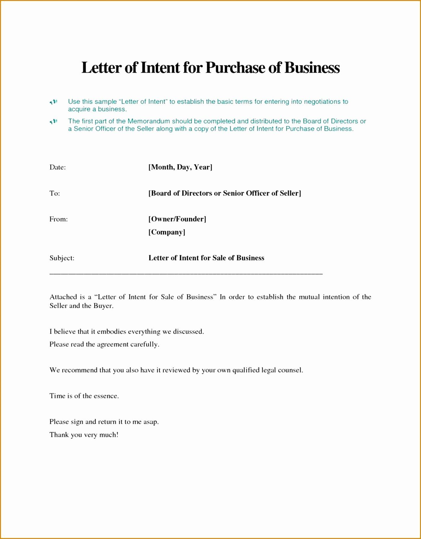 Intent to Sell form New 012 Letter Intent to Sell Business Template Purchase Valid Free Awesome A Download Examples