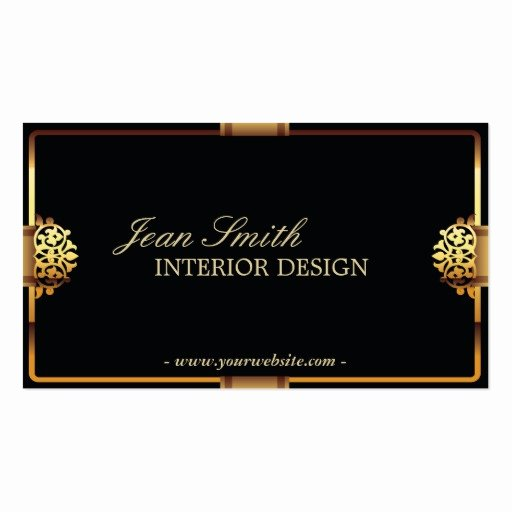 Interior Design Business Card Awesome Deluxe Gold Frame Interior Design Business Card