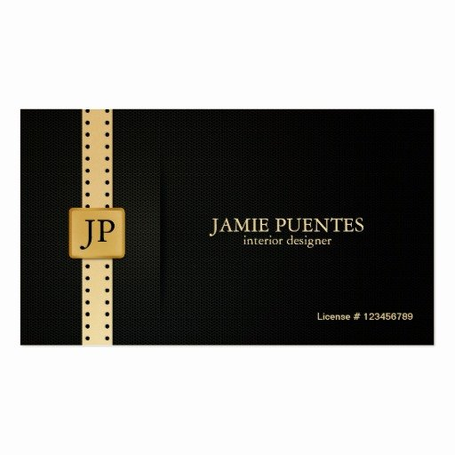 Interior Design Business Card Best Of Metallic Platinum Gold & Black Interior Design Double