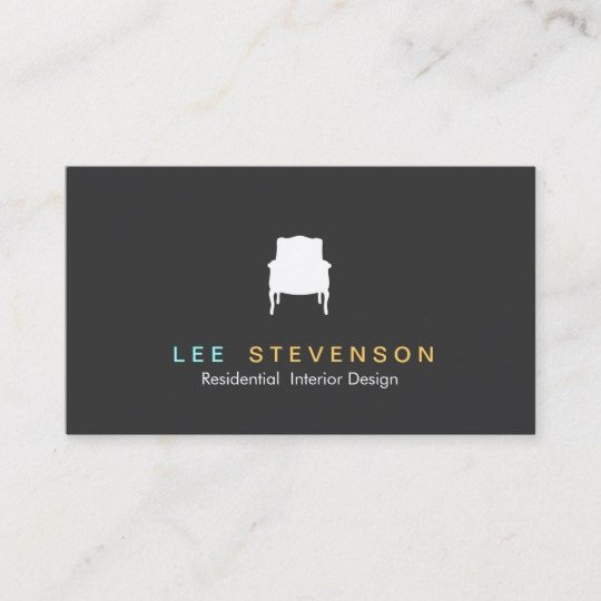 Interior Design Business Cards Fresh French Chair Logo Interior Designer Business Card
