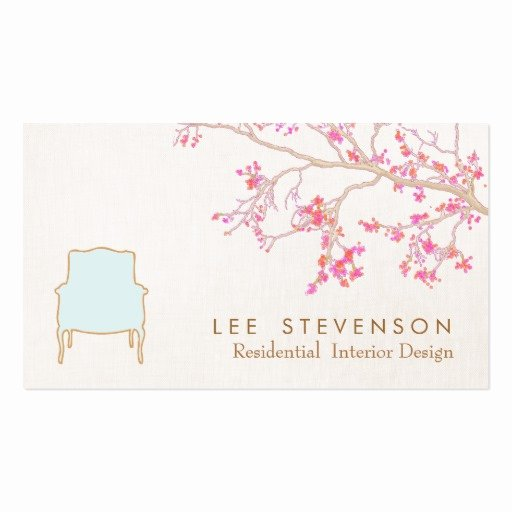 Interior Design Business Cards Fresh Interior Design French Chair Staging Decorator Double Sided Standard Business Cards Pack 100