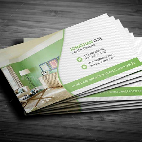 Interior Design Business Cards Inspirational 21 Interior Design Business Card Templates Ai Ms Word Psd