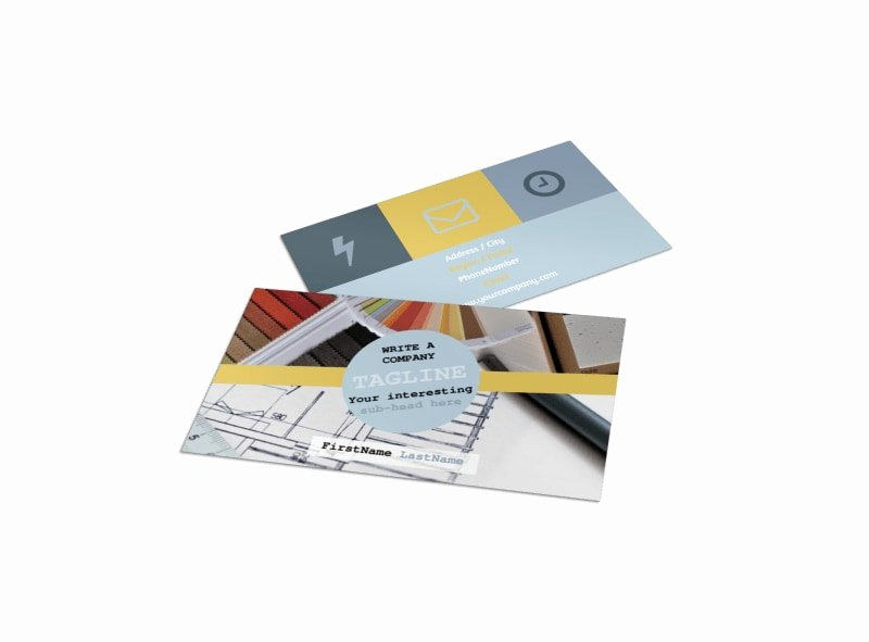 Interior Design Business Cards Inspirational Interior Designer Business Card Template