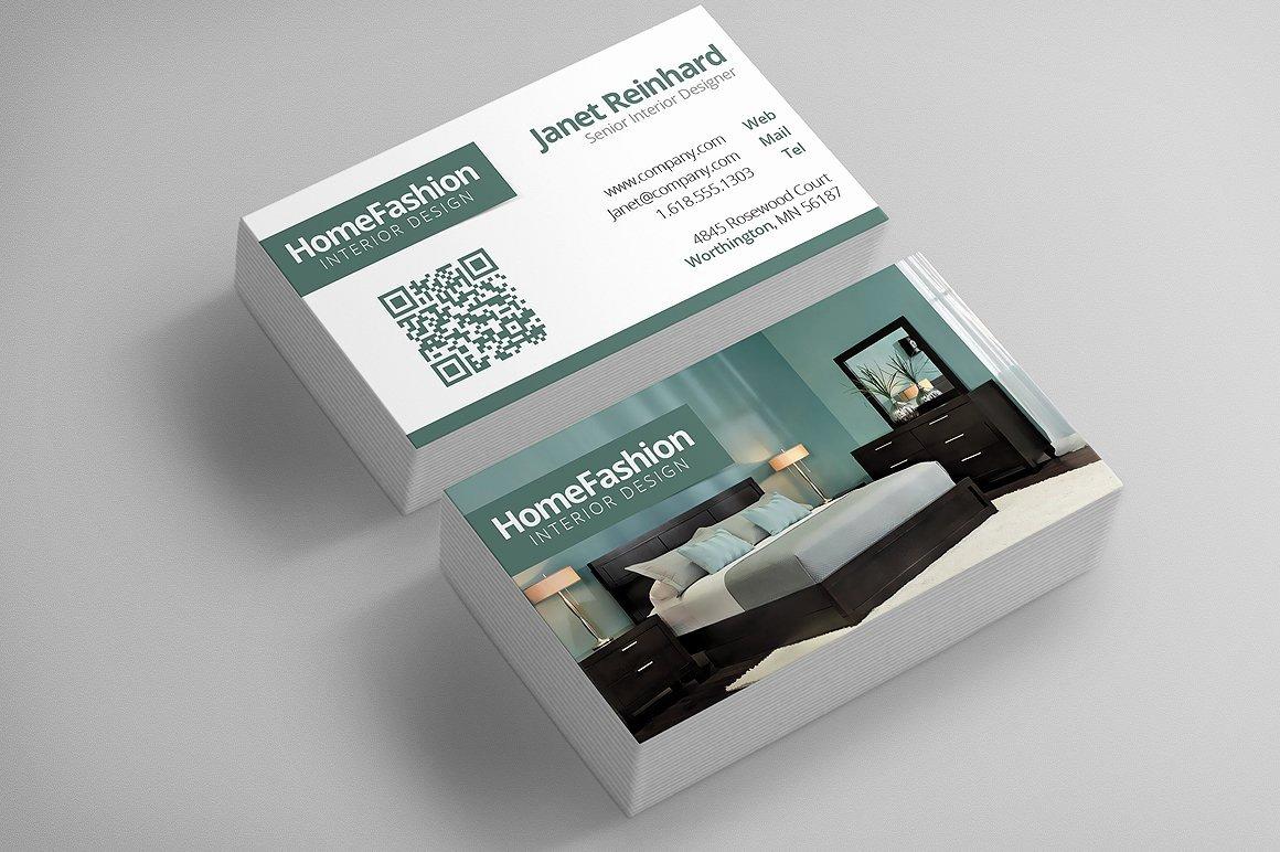 Interior Design Business Cards New Interior Design Business Cards Business Card Templates Creative Market