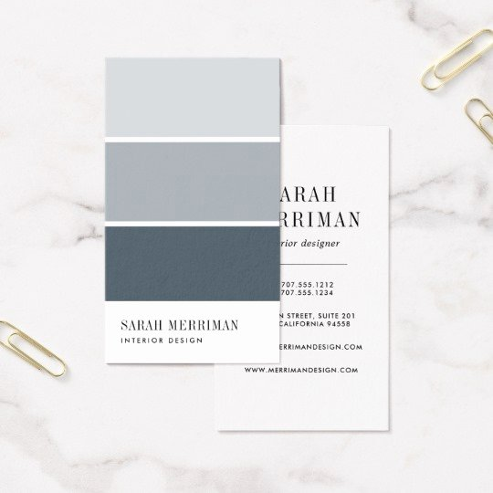 Interior Design Business Cards New Paint Chip Editable Color Interior Designer Business Card