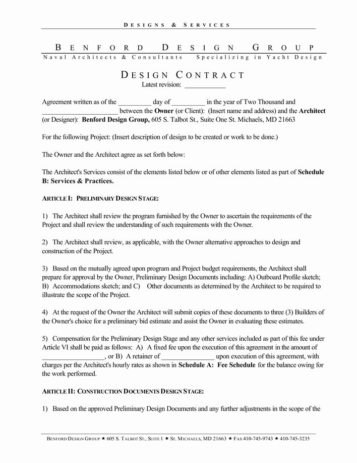 Interior Design Contract Template Beautiful Download Basic Interior Designer Contract Template Pdf Download for Free Tidytemplates
