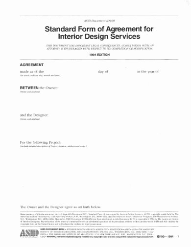 Interior Design Contract Template Best Of 8 Interior Designer Contract Templates Google Docs Ms Word Pages Pdf