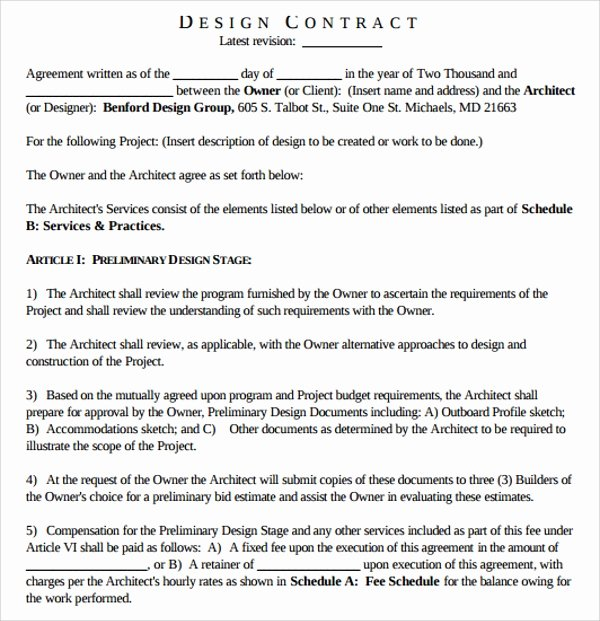 Interior Design Contract Template Unique Sample Interior Design Proposal Template 16 Free Documents In Pdf Word