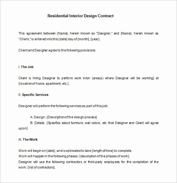 Interior Design Contracts Templates Fresh 7 Interior Designer Contract Templates Word Pages Pdf Google Docs