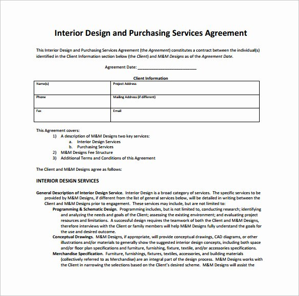 Interior Design Contracts Templates New Interior Design Contract
