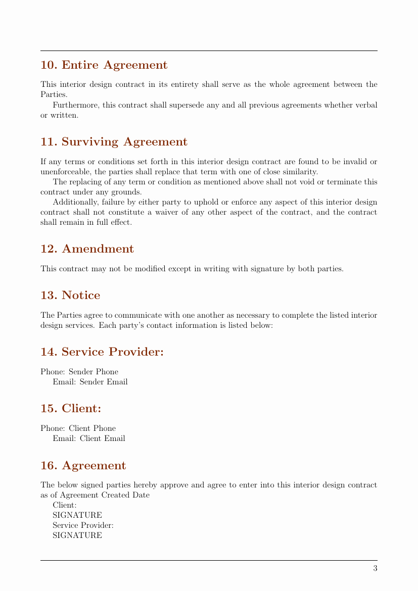 Interior Design Contracts Templates Unique Contracts Interior Design Contract Template Template