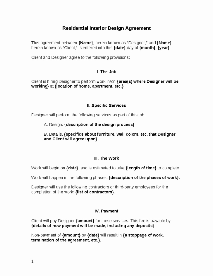 Interior Design Letter Of Agreement Lovely asid Interior Design Contract