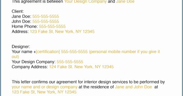 Interior Design Letter Of Agreement New How to Write An Interior Design Letter Of Agreement