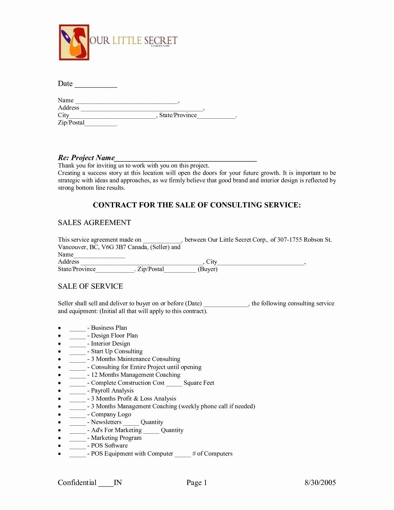 Interior Design Letter Of Agreement New Interior Design Contract Template