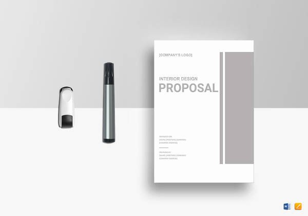 Interior Design Proposal Templates Awesome Sample Web Design Proposal Template 13 Free Documents In Pdf Word