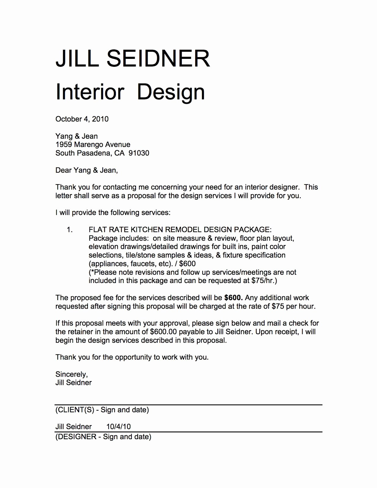 Interior Design Proposal Templates Fresh Jill Seidner Interior Design Yang & Jean Kitchen