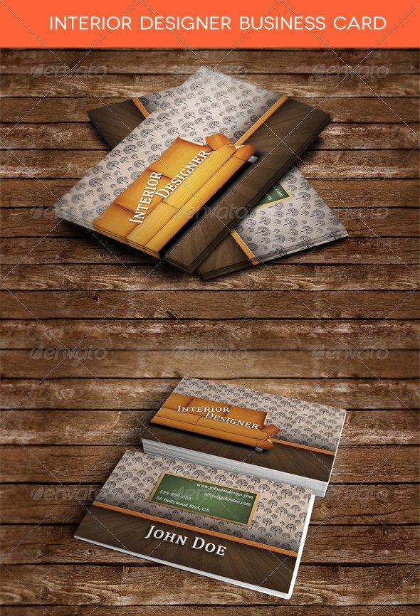 Interior Designer Business Card Beautiful Interior Designer Business Card by Zippy09