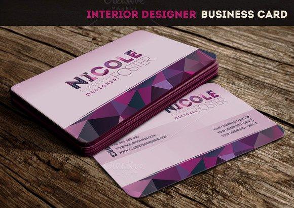 Interior Designer Business Card Best Of Interior Designer Business Card Business Card Templates On Creative Market