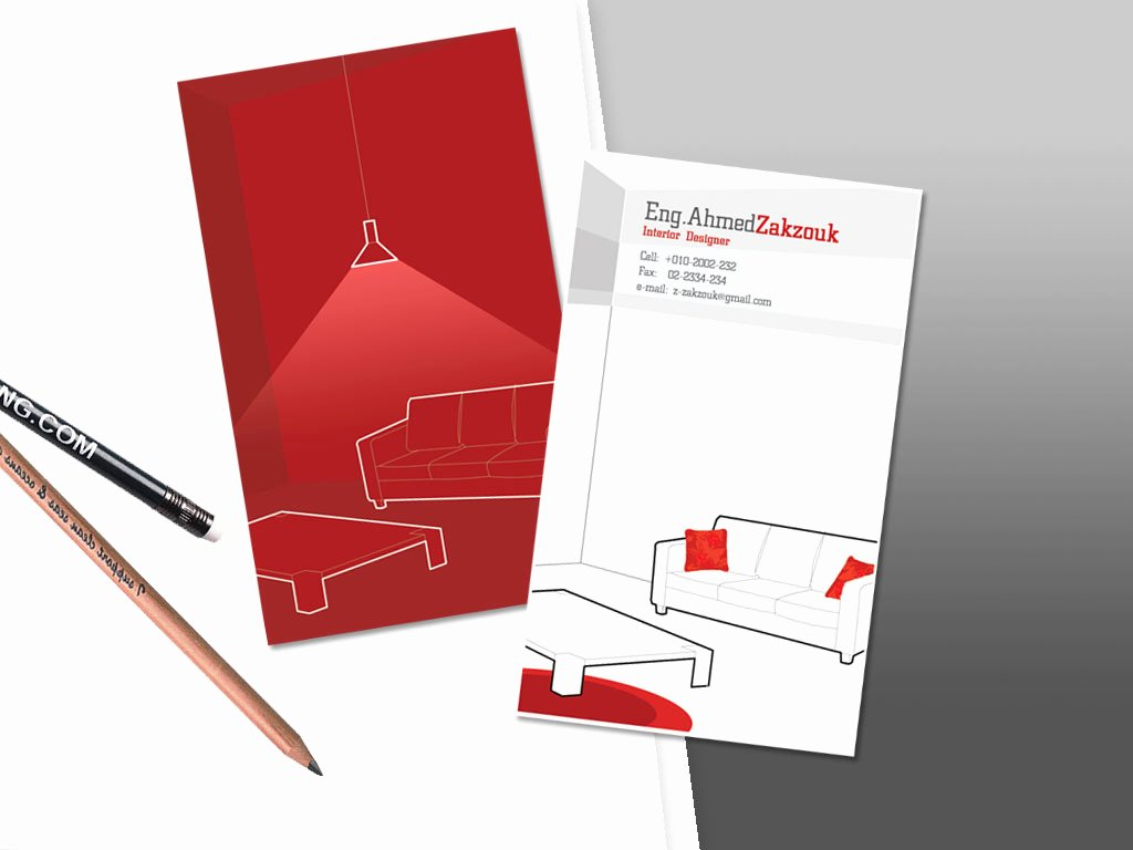 Interior Designer Business Card Luxury Interior Designer Business Card On Behance