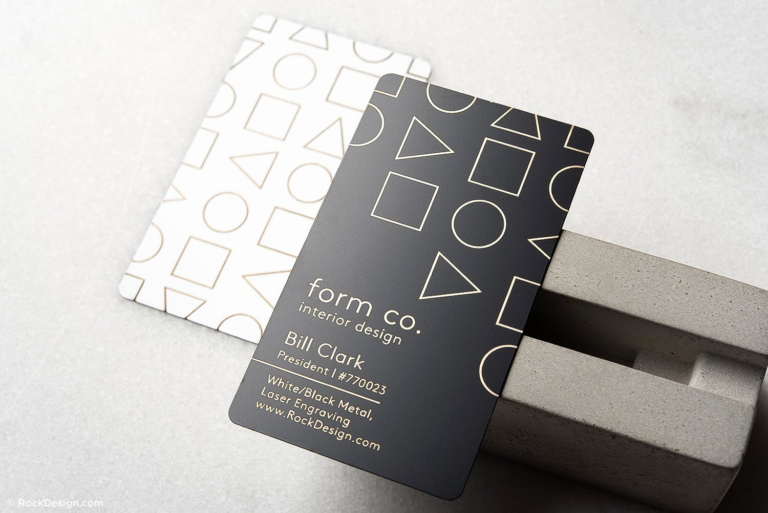 Interior Designer Business Cards Awesome Simple and Clean Interior Design Quick Metal Business Card Template form Co