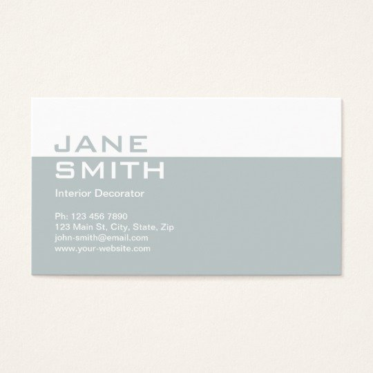 Interior Designer Business Cards Beautiful Elegant Professional Interior Design Decorator Business Card