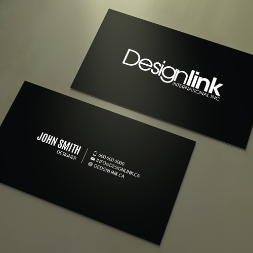 develop business card dynamic interior design firm