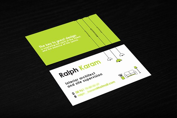 Interior Designer Business Cards Inspirational Interior Designer Business Card On Behance