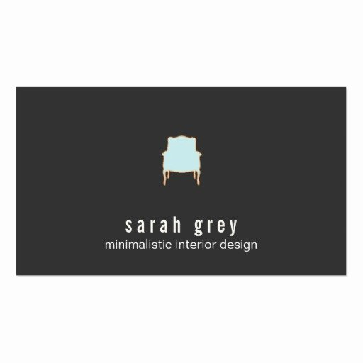 Interior Designer Business Cards Inspirational Minimalistic Interior Design Business Card