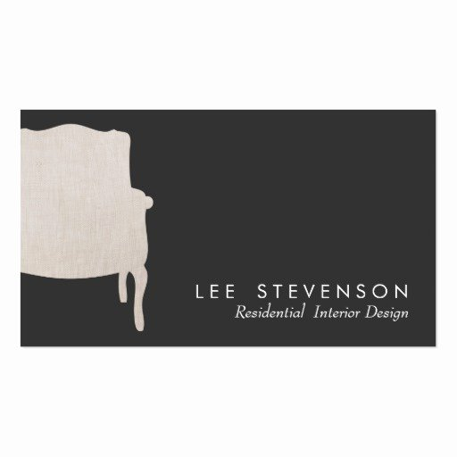 Interior Designers Business Cards Elegant Interior Design French Chair Business Card