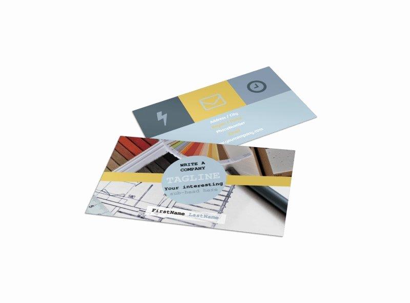 Interior Designers Business Cards Inspirational Interior Designer Business Card Template