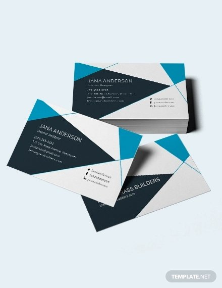 Interior Designers Business Cards Lovely 41 Corporate Business Card Templates Word Pages Ai