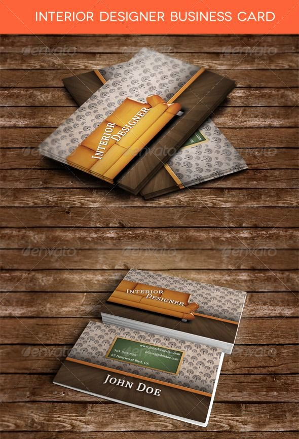 Interior Designers Business Cards Lovely Interior Designer Business Card Graphicriver Interior Designer Business Card is A Premium