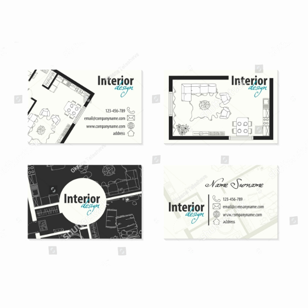 Interior Designers Business Cards Luxury 21 Interior Design Business Card Templates Ai Ms Word Psd