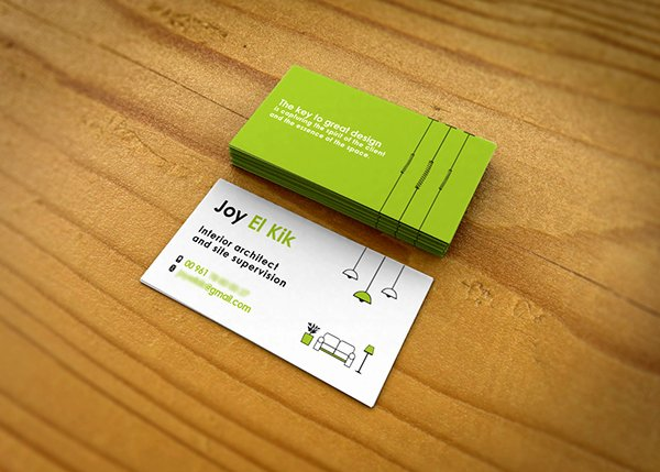 Interior Designers Business Cards New Interior Designer Business Card On Behance