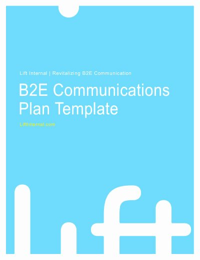 Internal Communications Plan Template Luxury Internal Munications Plan Template Lift Internal