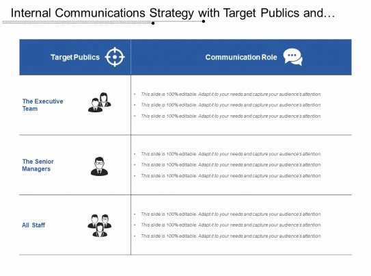 Internal Communications Plan Template New Internal Munications Strategy with Tar Publics and Munication Role