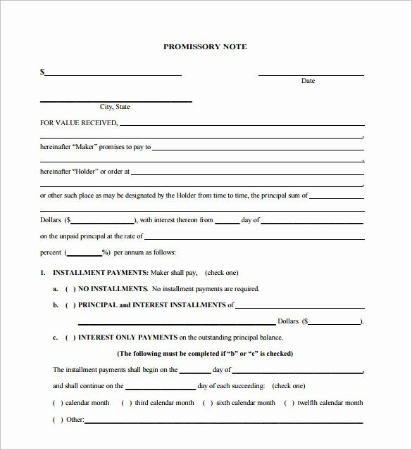 International Promissory Note Template Beautiful Promissory Note Template – 27 Free Word Pdf format Download