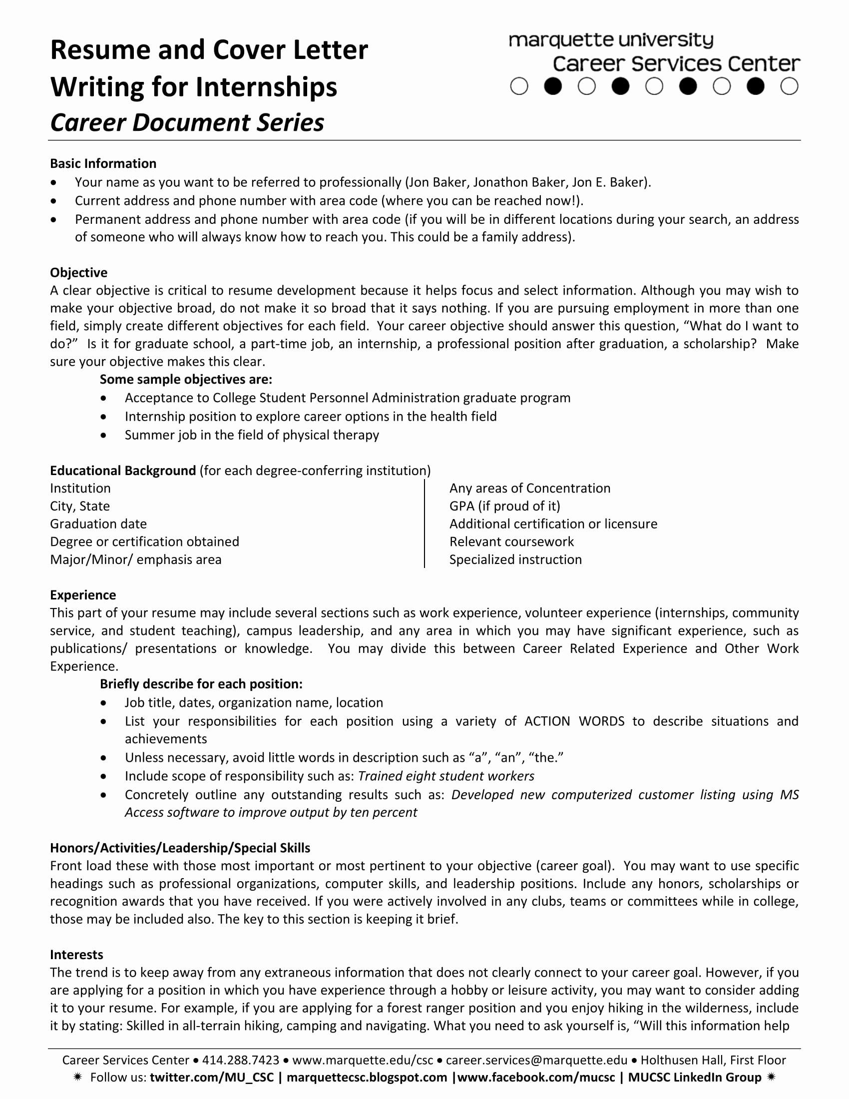 Internship Letter From Employer Fresh 16 Best Cover Letter Samples for Internship